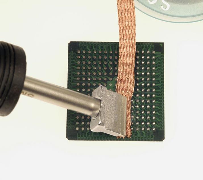 去除胶锡残留  - 除去IC 部品上的 胶残留及锡残留。